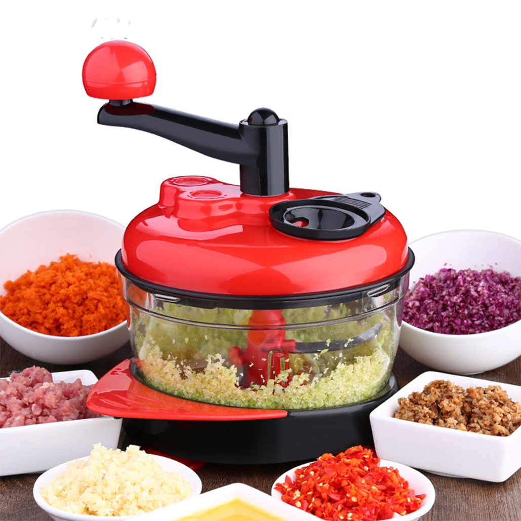 2L High-capacity Multi-function Kitchen Manual Food Processor Meat Grinder Vegetable Chopper Shredder Cutter Egg Blender
