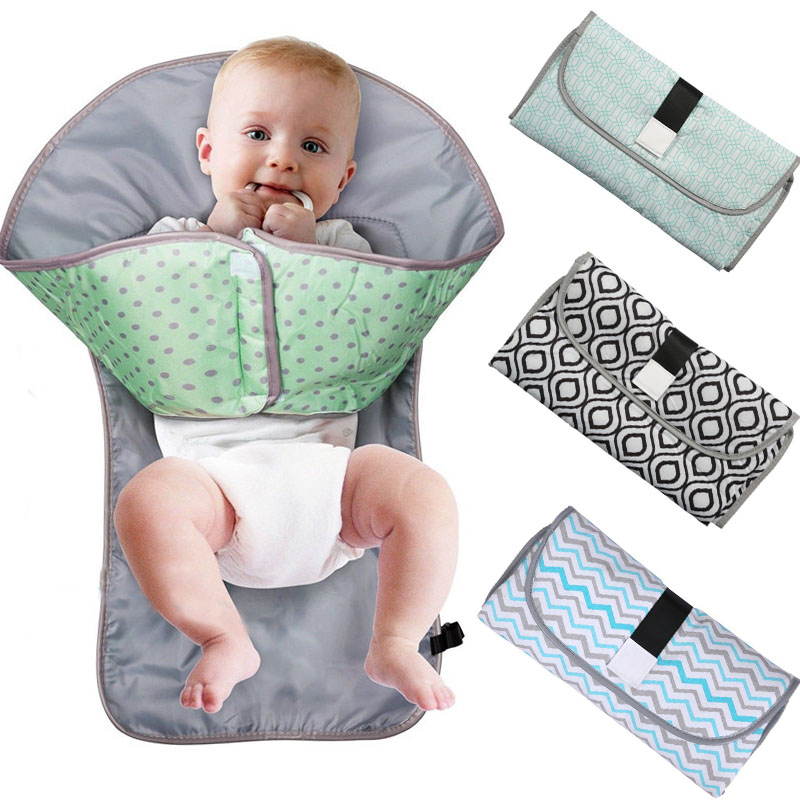 Baby Changing Pads Multifunctional Portable Infant Baby Foldable Mat Waterproof Nappy Bag Diaper Cover Mat Travel Diaper Bag