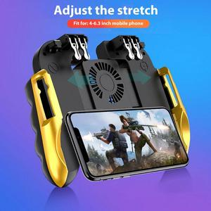 2020 New PUBG Game Controller Gamepad Trigger Shooting Free Fire Cooling Fan Gamepad Joystick For IOS Android Mobile Phone