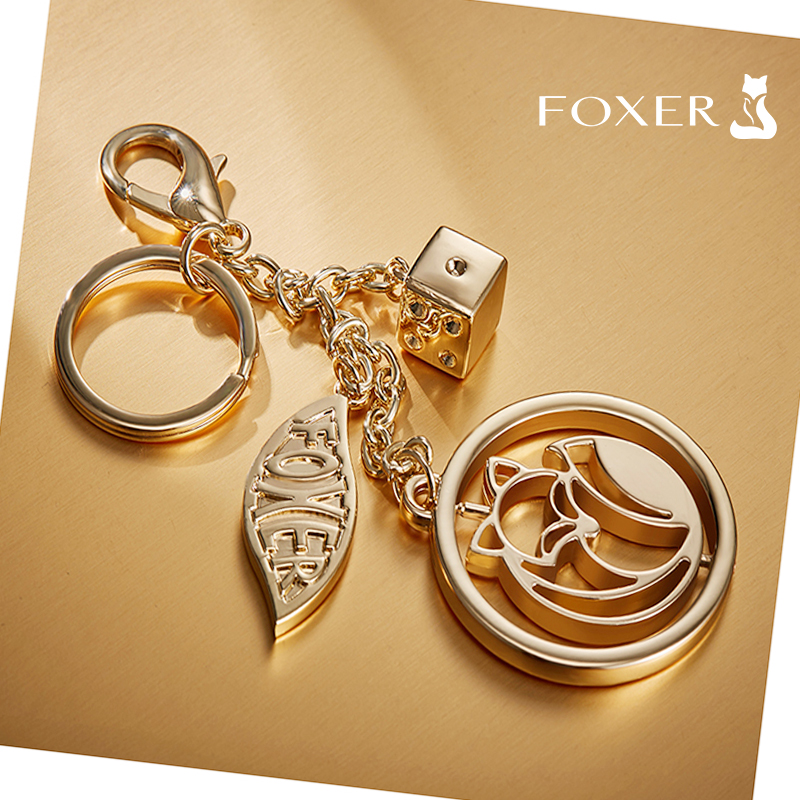 FOXER Brand Original Design Pendant Lady Bag Accessories Car Key Chain Fur Pendant Women Wallet Luxury Jewelry Pendant