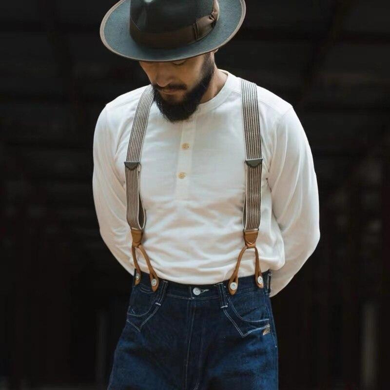 Бронсон Хенли Рубашка старые времена Для мужчин s хлопковая Футболка Для мужчин футболка с длинными рукавами Slim Fit Топы Повседневное Винтаж