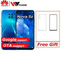 Huawei Nova 5z Smartphone Kirin 810 Ai Octa Core da 6.26 Pollici Android 9.0 di Impronte Digitali Sblocca Supporto Google Play
