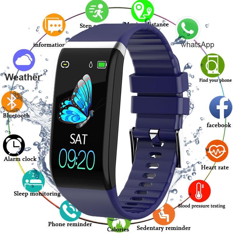 Fitness Bracelet Blood Pressure Pedometer Waterproof Smart Band Heart Rate Monitor Fitness Tracker Watch Men Women Sport Clock