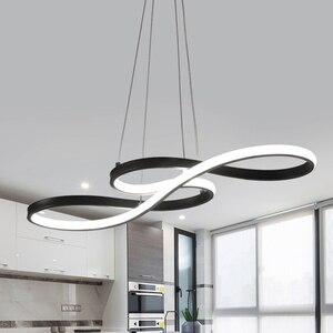 Image 1 - Anhänger Lichter LED Nordic küche Decor Hängende Lampe Einfache Musical Hinweis Gebogene Licht Für Wohnzimmer Hause Loft Beleuchtung Leuchte