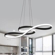 Lampe suspendue suspendue au design nordique simpliste, luminaire incurvé, luminaire décoratif dintérieur, idéal pour un salon, une cuisine, un Loft, LED
