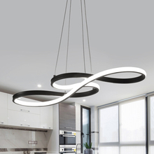 Pendant Lights LED Nordic kitchen Decor Hanging Lamp Simple Musical Note Curved Light For Living Room Home Loft Lighting Fixture
