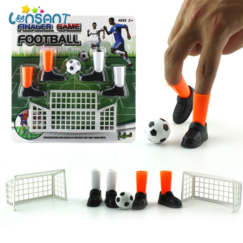 Party Mini Soccer Game Finger Toy Football Match Funny Table Game Set With Two Goals Interact Kids Parent Novelty Toys(China)