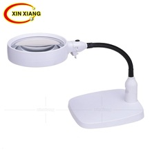 Large Reading Magnifier Light 8X Led Desktop Magnifier Lamp Portable Magnifying Glass With Led Light Repair Book Reading Loupe led light magnifier
