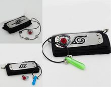 3 Pz/set Anime Naruto Del Fumetto Hokage Uchiha Itachi Collana Anello Della Fascia Del Vestito Cosplay Prop Decor Collection per Gli Uomini Boy Regalo(China)