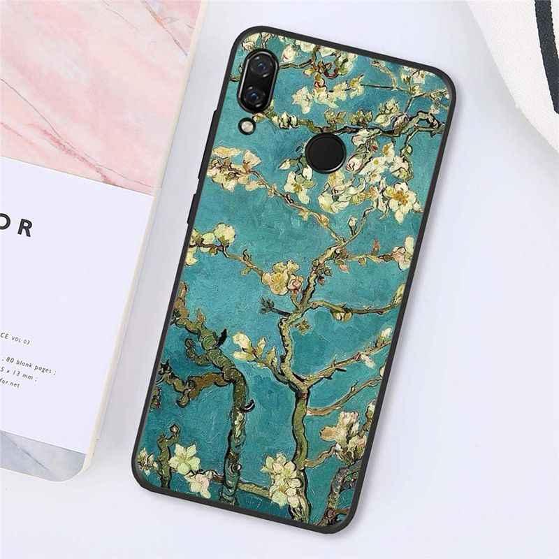 Maiyaca Van Gogh Đêm Đầy Sao Sơn Dầu Ốp Lưng Điện Thoại Xiaomi Redmi8 4X 6A S2 Đi Redmi 5 5Plus note4 5 7 Note8Pro