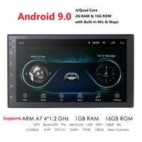 "Universal Android 9.0 7"" 2Din Car Radio Touchscreen GPS Multimedia Player For Nissan TOYOTA Kia RAV4 Honda VW Hyundai"