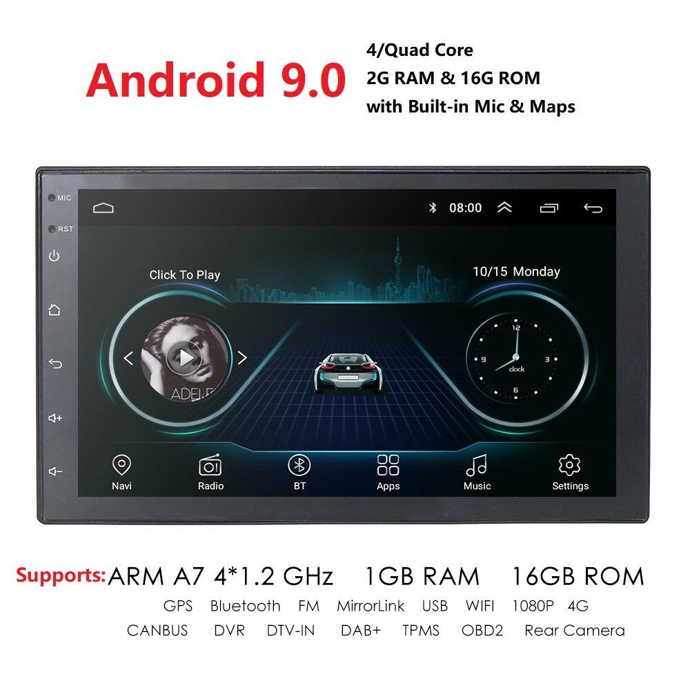 "Universel Android 9.0 7 ""2Din autoradio écran tactile GPS lecteur multimédia pour Nissan TOYOTA Kia RAV4 Honda VW Hyundai"