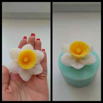 PRZY HC0089 3D Molds Flowers Silicone Soap Mold Flower Candle Aroma Mould Soap Making Moulds Resin Clay Molds Silica Gel - DISCOUNT ITEM  20 OFF Home & Garden