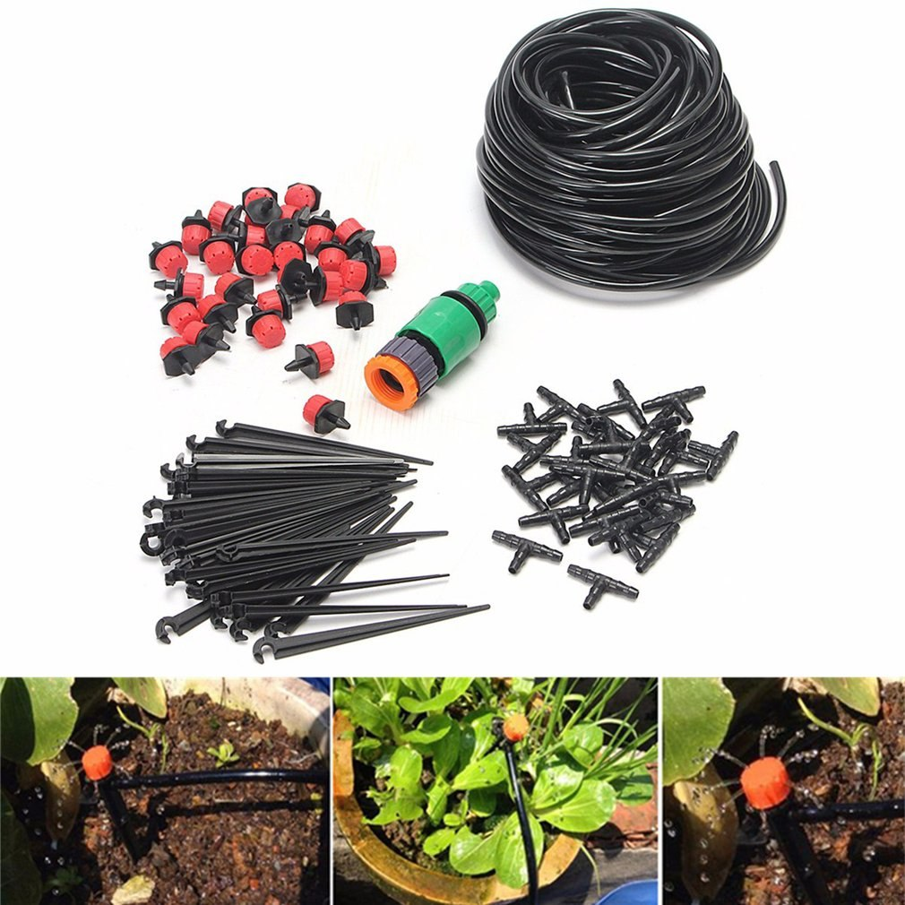 25m 82ft DIY Drip Irrigation System Automatic Self Watering Garden Hose Micro Drip Garden Watering Hose System Dropshipping