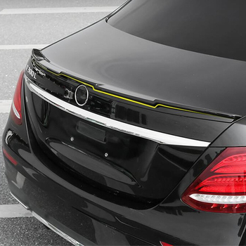 CEYUSOT FOR Car Accessory Spoiler W213 Benz E-class E200 E300 E320 Sedan Car Trunk Wing Tail ABS Color Spoiler MZ Skyle 2016-20 image