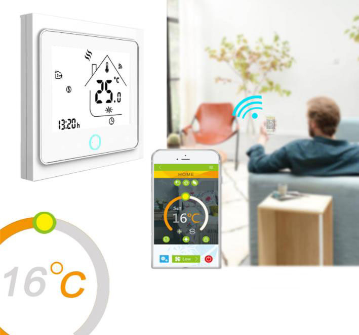 WiFi Smart Temperature Google Home Controller Thermostat for Water/Electric floor Heating Water/Gas Boiler Works with Alexa