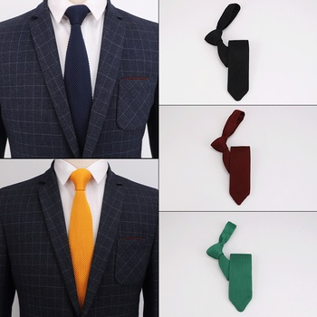 Sitonjwly 5cm Classic Mens Tie Knitted Necktie Knitting Neck Ties for Man Business Wedding Gift Party Cravat Custom Logo недорого