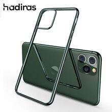 Gece yarısı yeşil kaplama iphone için kılıf 11 Pro Max lüks yumuşak silikon şeffaf telefon iphone için kılıf 11 11Pro XR X XS Max