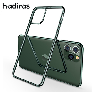 Image 1 - Midnight Green Plating Case voor iPhone 11 Pro Max Luxe Zachte Siliconen Transparante Telefoon Case voor iPhone 11 11Pro XR X XS Max
