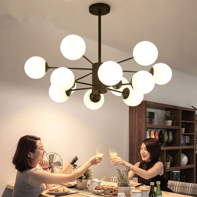 Modern LED Ceiling Chandelier Lighting Living Room Bedroom Chandeliers Creative Home Lighting Fixtures AC110V/220V Free Shipping|Pendant Lights| |  - title=