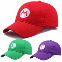 Sombreros de sol Luigi de Super Mario Bros, Cosplay, gorra de béisbol, accesorio