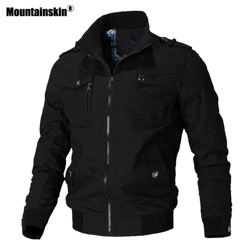 Мужская повседневная куртка Mountainskin, весенне-осенняя армейская военная куртка, Мужская верхняя одежда, ветровка, брендовая одежда SA779