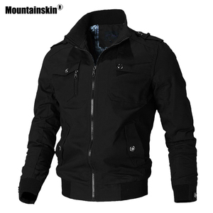 Image 1 - Mountainskin Casual Jacket Men Spring Autumn Army Military Jackets Mens Coats Male Outerwear Windbreaker Brand Clothing SA779