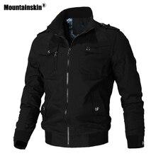 Mountainskin カジュアルジャケット男性春秋陸軍ミリタリージャケットメンズコート男性の上着ウインドブレーカーブランド服 SA779