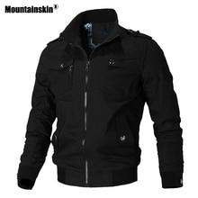 Mountainskin jaqueta casual masculina, primavera outono, exército, militar, casacos para uso externo, roupas de marca, sa779