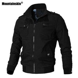 Image 1 - Мужская ветровка Mountainskin, армейская Повседневная куртка в стиле милитари, верхняя одежда, весна осень 2019