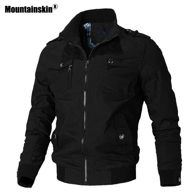 Мужская ветровка Mountainskin, армейская Повседневная куртка в стиле милитари, верхняя одежда, весна осень 2019