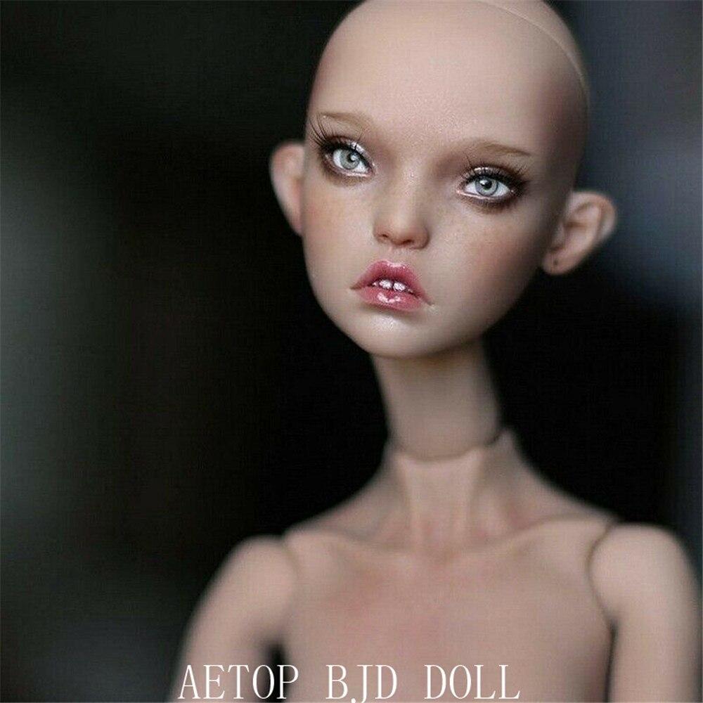 AETOP BJD DOLL  1/4 BJD  Doll Kunis Girl Ball Doll Fashion Resin Doll Free Face Up Details