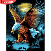 HUACAN 5D DIY Diamond Painting Eagle Craft Kit Full Square Drill Diamond Embroidery Animal Pictures Of Rhinestones Handmade Gift