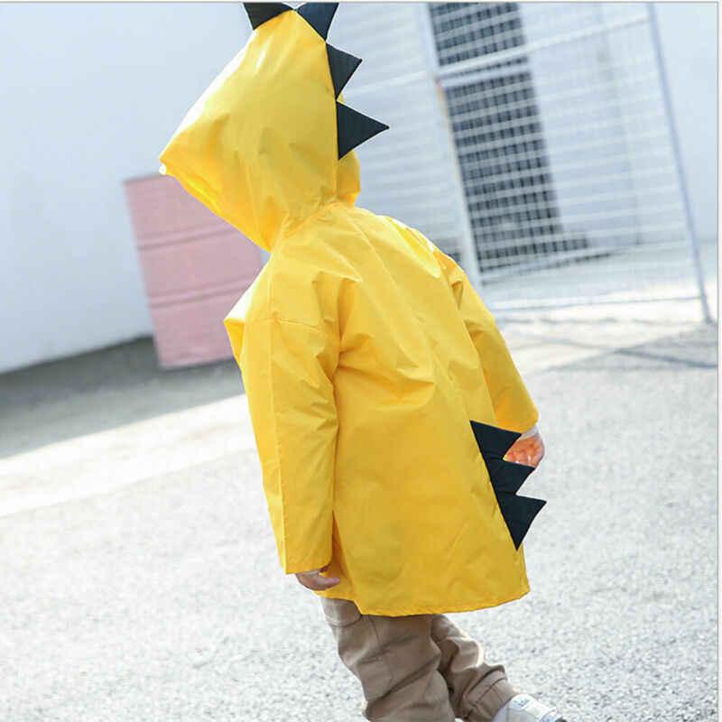 Водонепроницаемая куртка для девочек и мальчиков; детская куртка с рисунком динозавра