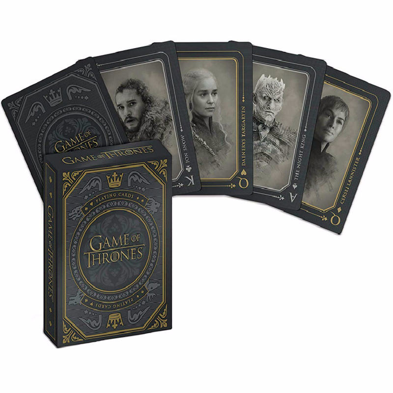 Game Of Thrones Poker Props Jon Snow Stark Daenerys Targaryen Dany Dragon Mother Cosplay Props Board Game Playing Cards