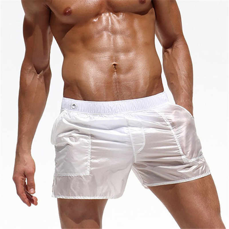 New 2019 Beach Shorts Board Swimwear Sunga Swimsuit mayo bikini Sexy Swimming translucent briefs de bain homme zwembroek heren