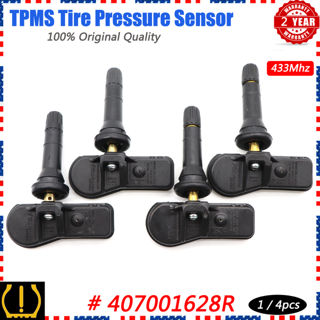 Xuan TPMS Reifendruck Sensor Überwachung System 407001628R für Renault Clio IV Kangoo Twingo Dacia Duster Lodgy Sandero 433Mhz