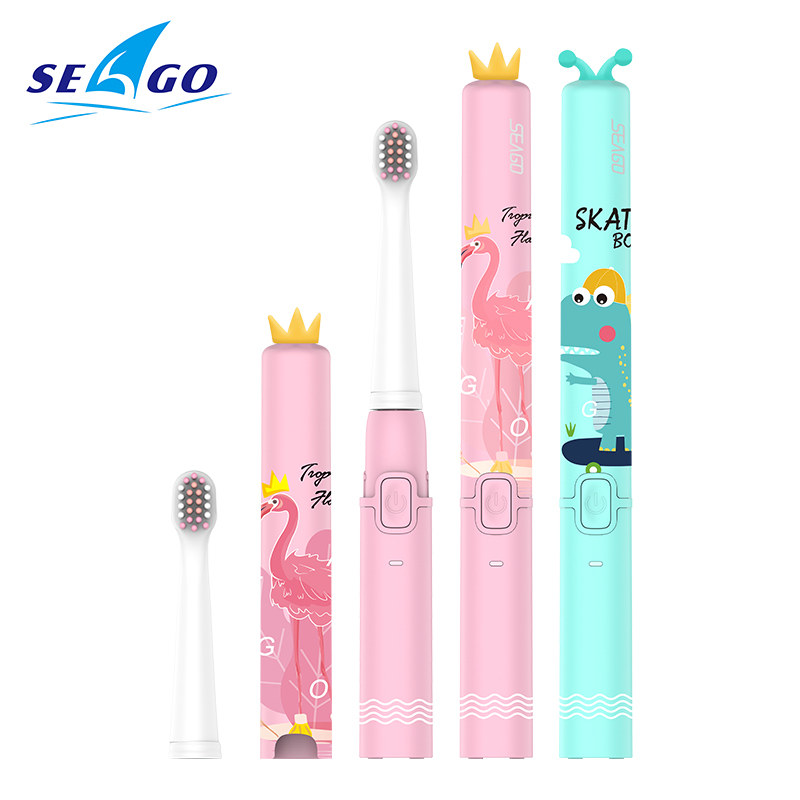 SEAGO USB Kids Electric Toothbrush Cute Soft Food-grade Materials Dupont Bristle  Rechargeable Ultrasonic Sonic Teeth Brush