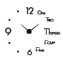 Horloge murale en métal véritable 3d, bricolage acrylique, miroir, horloges, décoration de la maison, aiguille moderne, autocollants à quartz, nouveauté 2021