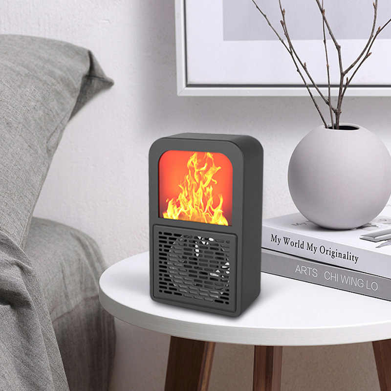 220V 400W מיני חשמלי קיר דוד להבה לשקע באוויר חם PTC קרמיקה חימום תנור רדיאטור ביתי קיר Handy מאוורר