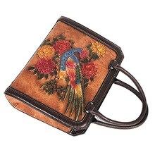 Handmade Embossing Retro Luxury Handbags Women Bags Designer 2020 New Genuine Leather Shoulder & Crossbody