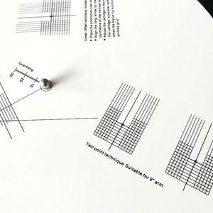Image 5 - Anti Scorrevole Lp in Vinile Record di Pick Up Piastra di Calibrazione Distanza Strumento di Regolazione Calibro Goniometro Righello per Giradischi Accessori