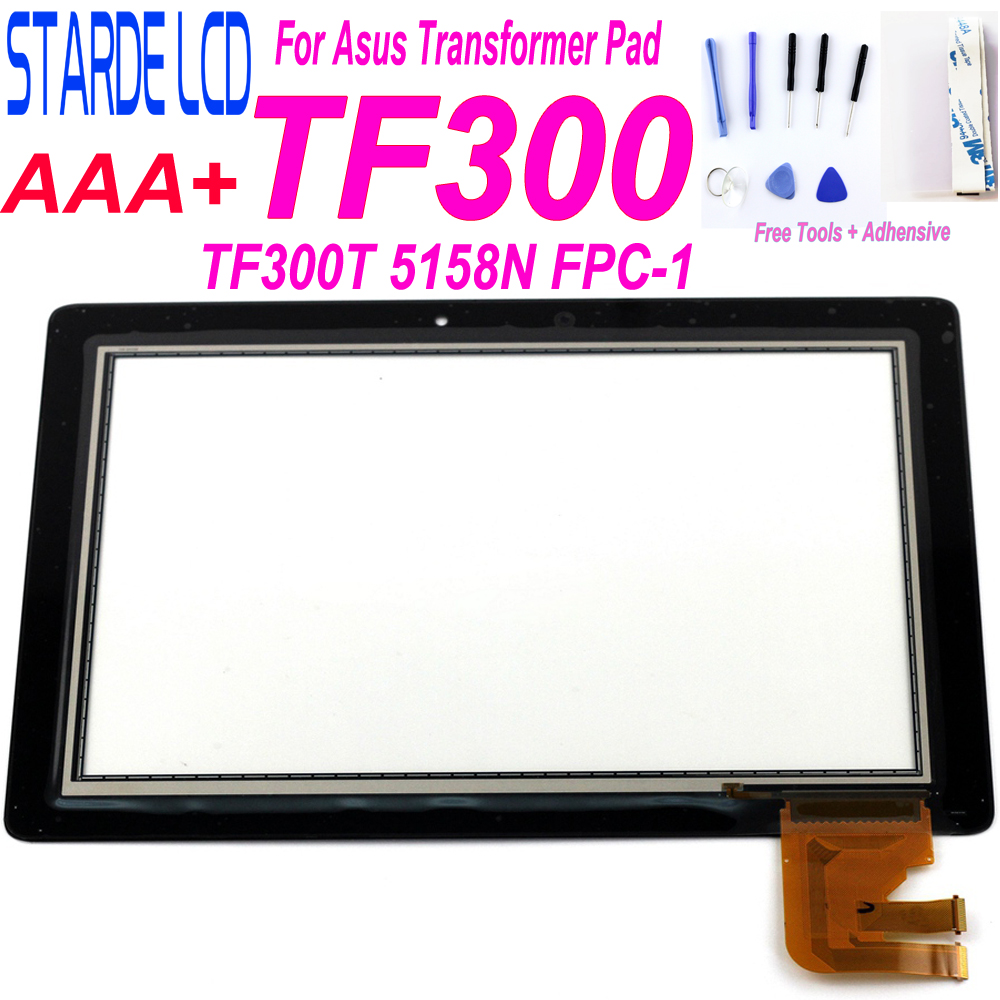 New 10.1'' Inch Tablet For Asus Transformer Pad TF300T TF300 5158N FPC-1 Touch Screen Panel Digitizer