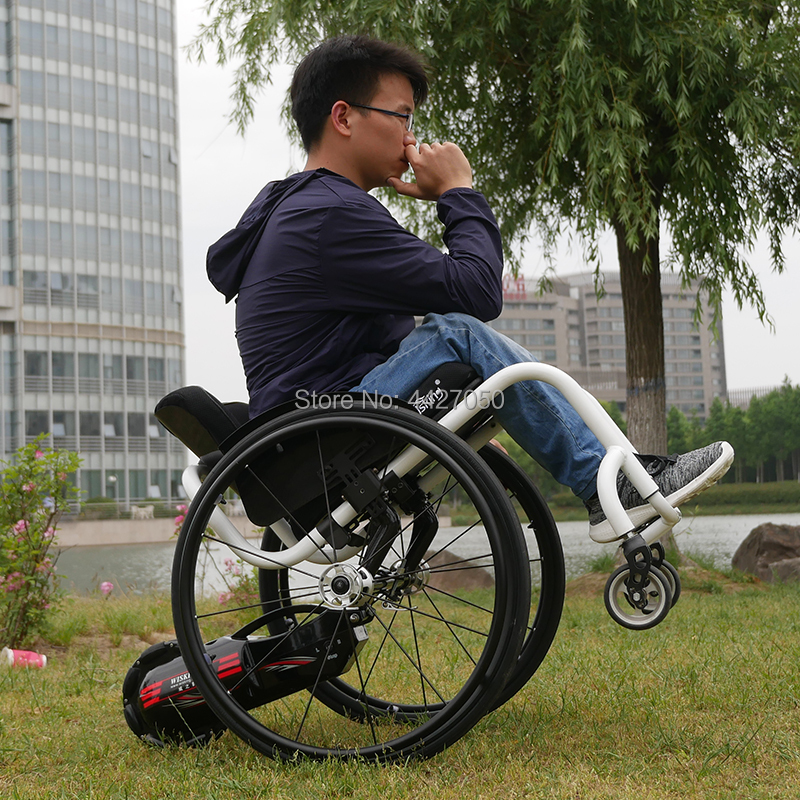 2019 New Wheelchair Small Tail Booster Wheel Electric Front Hand Crank Wheelchair Smart Push Wheel