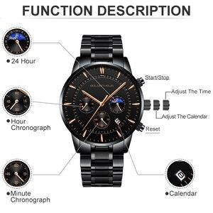 Image 3 - Goldenhour relógios masculinos marca de luxo aço completo negócios relógio de pulso à prova dwaterproof água quartzo masculino relógio relogio masculino