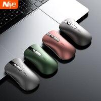 2.4G Mouse Senza Fili Bluetooth Del Mouse 4 Button 1600 DPI Silenzioso Ergonomico Ricaricabile Mini Mouse USB Mouse Ottico Per PC del computer portatile