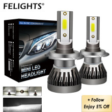 2x LED 12000LM/PAIR Mini Car Headlight Bulbs H1 H4 H7 H8 H9 H11 Headlamps Kit 9005 HB3 9006 HB4 9012 Auto LED Lamps Fog Lights(China)