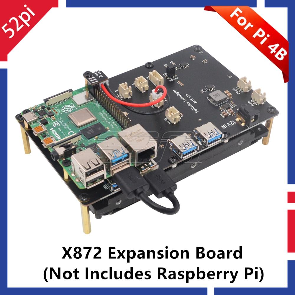 52Pi New! Raspberry X872 M.2 NVMe SSD Shield Expansion Board For Raspberry Pi 4 B ( 4 Model B )