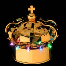 Nightclub champagne bottle led light crown caps gold color Sample Promotion 1pc