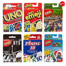 Toys Board Games Playing-Cards Party Family Poker Funny Mattel Uno-Series